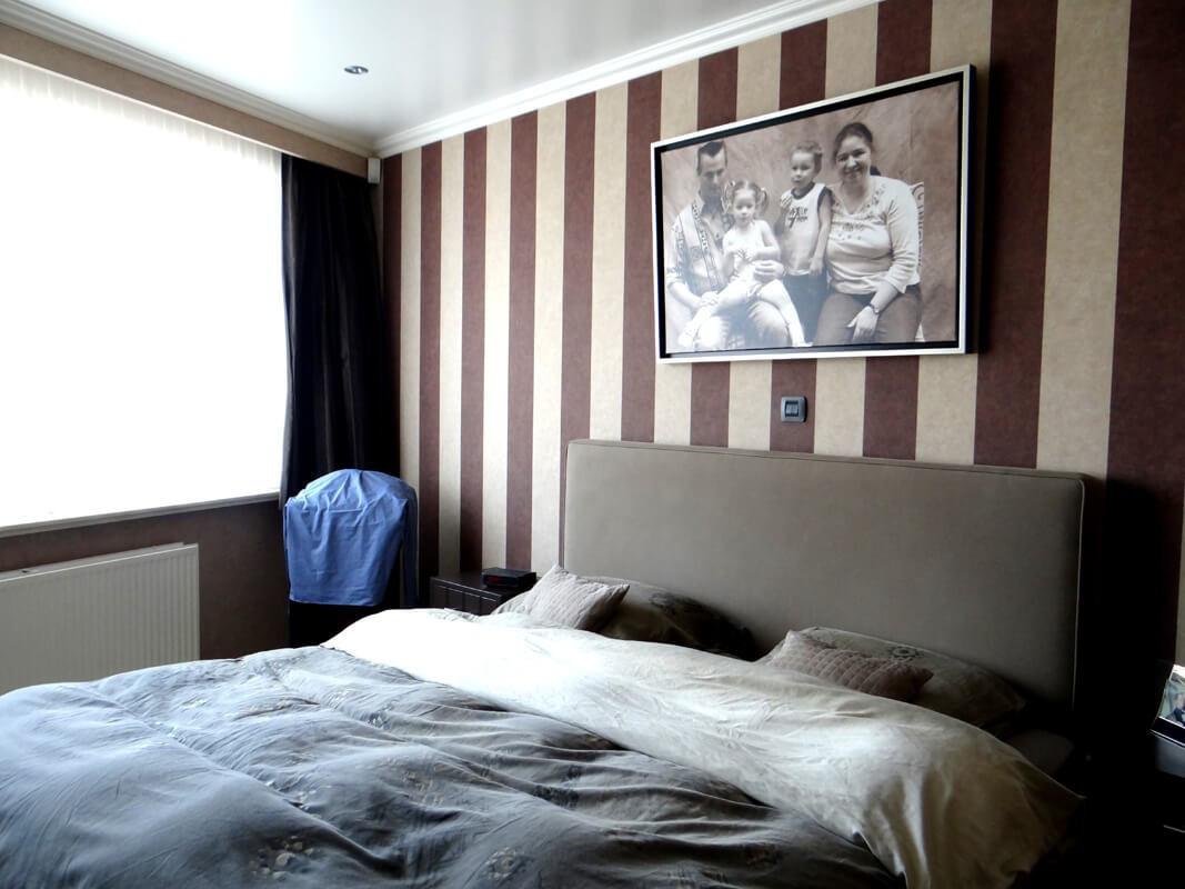 Slaapkamer Hout Behang : Behangen decoratiewerken smets retie